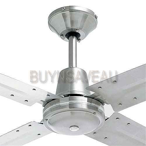 Tyler 1200mm 4 Blade Brushed Stainless Steel Ceiling Fan