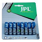 JPL AA Green Heavy duty Batteries 80 Batteries, 10 pack of 8 batteries